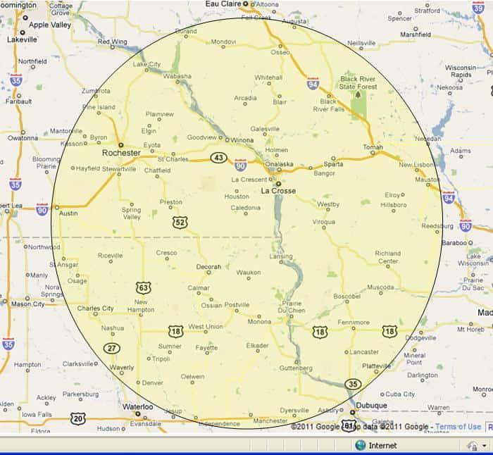 Winona Controls Service Area